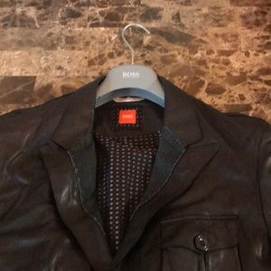 Hugo Boss Leather Blazer
